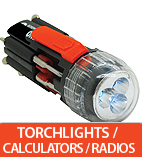 Torchlights / Calculators / Radios