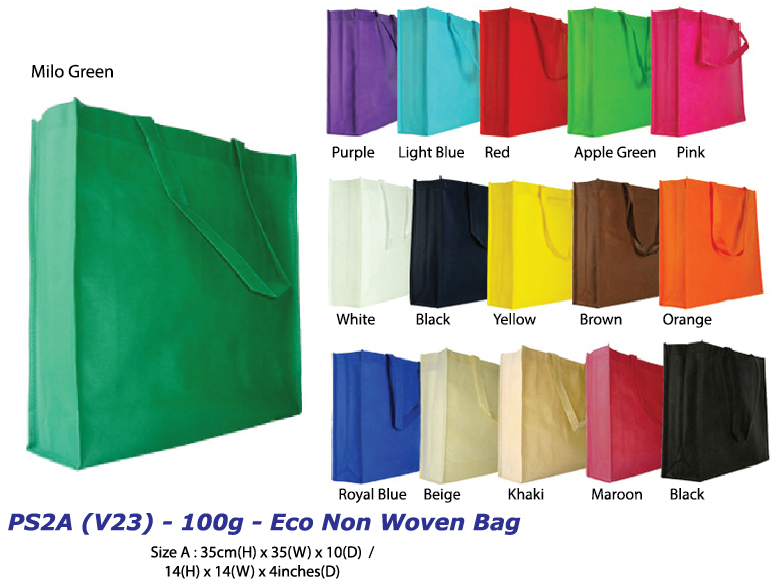 PS2A (V23) - 100g - Eco Non Woven Bag