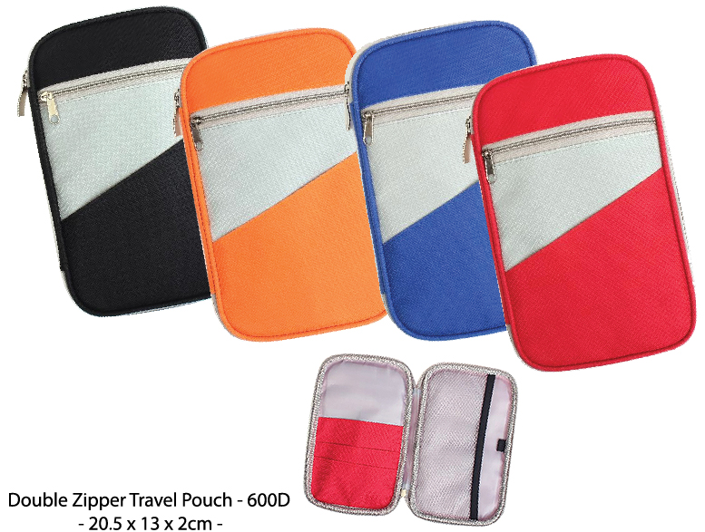 Double Zipper Travel Pouch - 600D