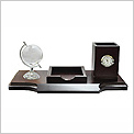 WD1 (V23)  - Exclusive Wooden Desktop with Crystal Globe / Clock