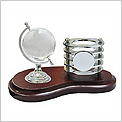 WD2 (V23) - Wooden Penholder with Crystal Globe