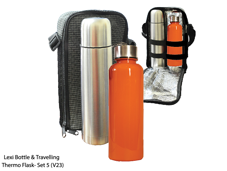 Lexi Bottle & Travelling Thermo Flask - Set 5 (V23)