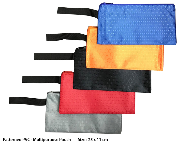 Patterned PVC Multipurpose Pouch