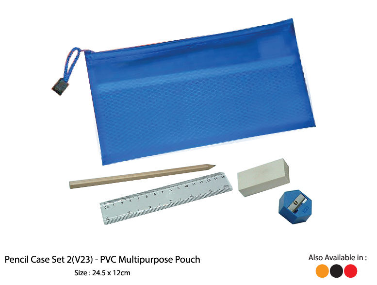 Pencil Case Set 2 (V23)  - PVC Multipurpose Pouch