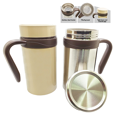DWSSCM - Double Wall Stainless Steel Coffee Mug - 450 ml