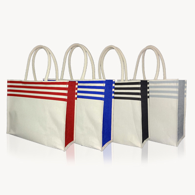 JC213 - Stripe Jute / Cotton Big Bag